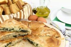 De pastei van de spinazie Stock Afbeelding