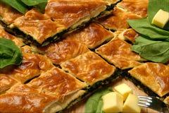 De pastei van de spinazie Royalty-vrije Stock Foto's
