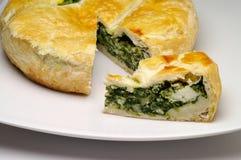 De pastei van de spinazie en van de kaas Stock Foto's