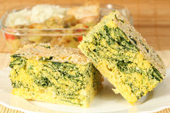 De pastei van de spinazie en van het graan Stock Afbeelding
