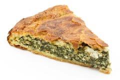 De pastei van de spinazie (spanakopita) Stock Fotografie