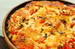 De Pastei van de tomaat stock foto