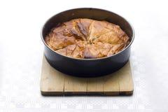 De pastei van Filo in bakselpan Royalty-vrije Stock Fotografie