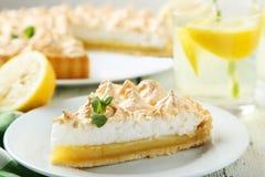 De pastei van het citroenschuimgebakje Royalty-vrije Stock Foto's