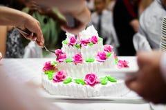De pastei van het huwelijk stock afbeelding