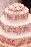 De pastei van het huwelijk Stock Foto