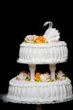 De pastei van het huwelijk Stock Foto's