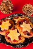 De pastei van Kerstmis Stock Foto