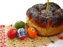 De pastei van Pasen met eieren Stock Foto's