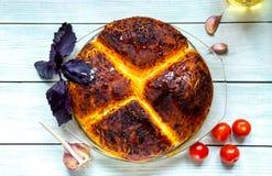 De Pastei van de pizzapot stock afbeelding