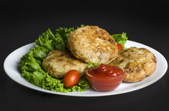 De Pasteitjes van de gebakken aardappelaardappel Stock Fotografie
