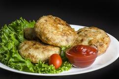 De Pasteitjes van de gebakken aardappelaardappel Royalty-vrije Stock Foto's