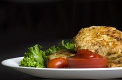 De Pasteitjes van de gebakken aardappelaardappel Stock Foto