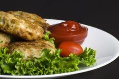 De Pasteitjes van de gebakken aardappelaardappel Stock Afbeelding