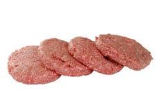 De Pasteitjes van de hamburger Stock Afbeeldingen