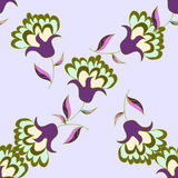 De pastelkleur bloemen naadloos patroon van Nice Stock Afbeeldingen