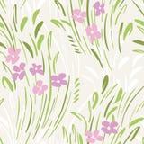 De pastelkleur kleurde abstract ditsy gestural bloemen vector naadloos patroon De lentebloei, gebladerte stock illustratie