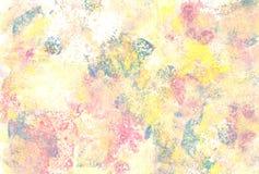 De pastelkleur kleurde abstracte verf bekladt Stock Fotografie