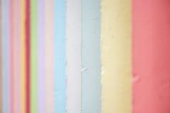 De pastelkleur kleurde concrete muur Stock Foto