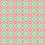 De pastelkleur kleurde de naadloze achtergrond van de patroontextuur - baby roze, blauwe, gele, groene en oranje kleuren Stock Foto