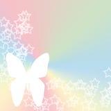De pastelkleur van de Vlinder van de ster Stock Afbeeldingen
