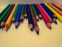De pastelkleur velen kleur op achtergrondwit voor maakt art. stock foto