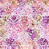 De pastelkleur verontrustte geweven damastachtergrond Royalty-vrije Stock Afbeelding