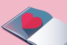 De pastelkleurachtergrond van het liefdeboek Stock Afbeelding