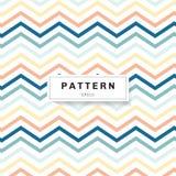 De pastelkleurenkleur van het chevronpatroon op witte achtergrond Blauwe, gele, roze zigzag stock illustratie