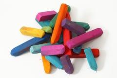 De pastelkleurstokken van Coloful Stock Fotografie