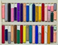 De pastelkleurstokken van de olie Stock Afbeelding