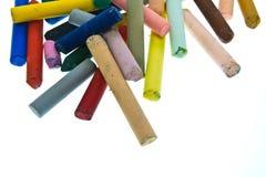 De pastelkleurstokken van de olie Stock Foto