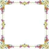 De pastelkleurvierkant van het ornament frame1 Stock Afbeeldingen