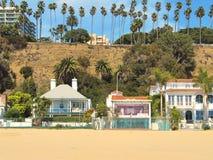 De Pastelkleurvilla van Nice door Santa Monica-pijler - Los Angeles Royalty-vrije Stock Afbeelding