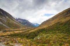 De Pasvallei van Arthur, Nieuw Zeeland stock fotografie