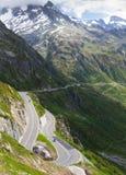 De pasweg van Susten, Zwitserland stock foto's