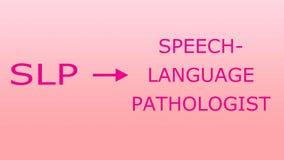 De Pathologie SLP van de toespraaktaal royalty-vrije illustratie