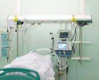 De patiënt in de afdeling royalty-vrije stock afbeelding