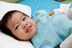 De patiënt van de jongen in het ziekenhuis Royalty-vrije Stock Fotografie