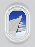 De patrijspoort van vliegtuigen Stock Foto's