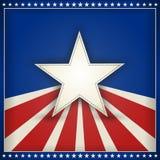 De patriottische achtergrond van de V.S. met sterren en strepen Stock Foto's