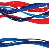 De Patriottische Achtergrond van Verenigde Staten Stock Fotografie