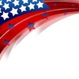 De Patriottische Achtergrond van Verenigde Staten Stock Foto's