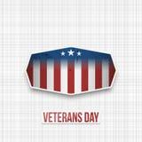 De patriottische Banner van de V.S. van de veteranendag stock illustratie