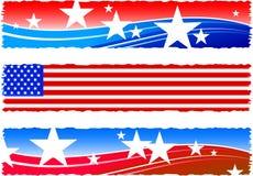 De patriottische banners van de Dag van de onafhankelijkheid Stock Afbeelding