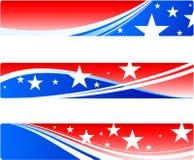 De patriottische banners van de Dag van de onafhankelijkheid Stock Fotografie