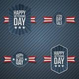 De patriottische Banners van de veteranendag stock illustratie