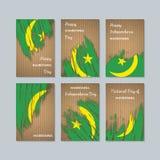 De Patriottische Kaarten van Mauretanië voor Nationale Dag stock illustratie