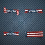 De patriottische Linten van de veteranendag vector illustratie