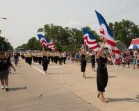 De patriottische parade van de onafhankelijkheidsdag Royalty-vrije Stock Afbeelding